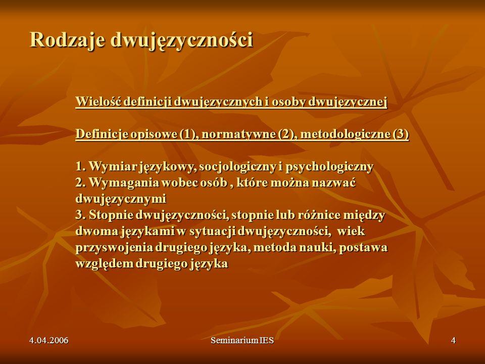Rodzaje dwujęzyczności
