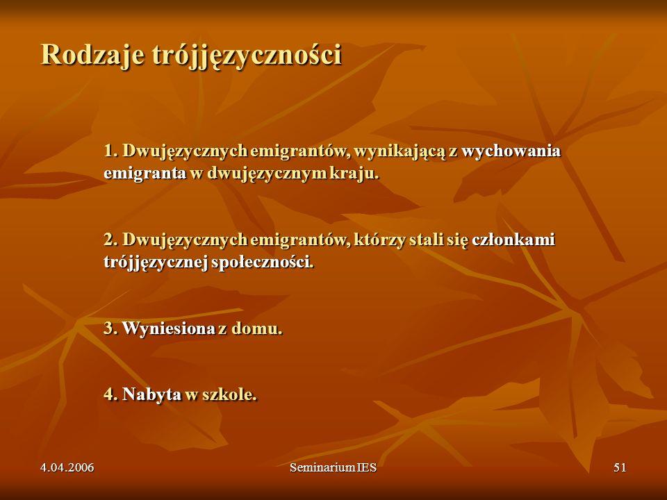 Rodzaje trójjęzyczności