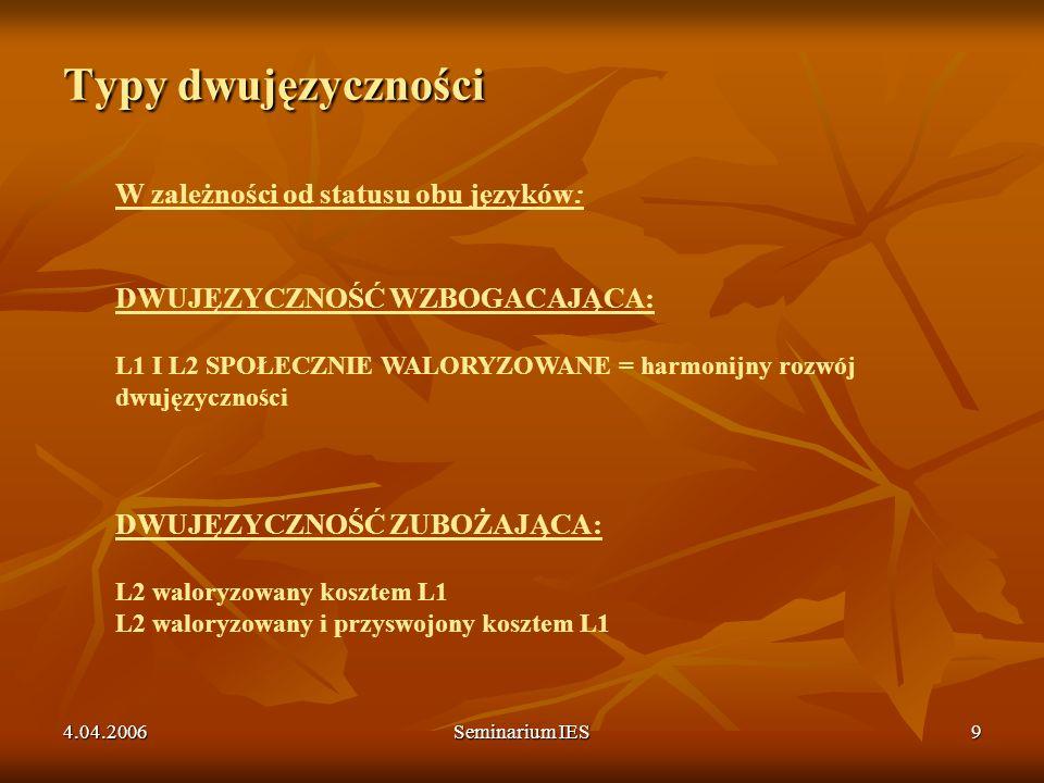Typy dwujęzyczności