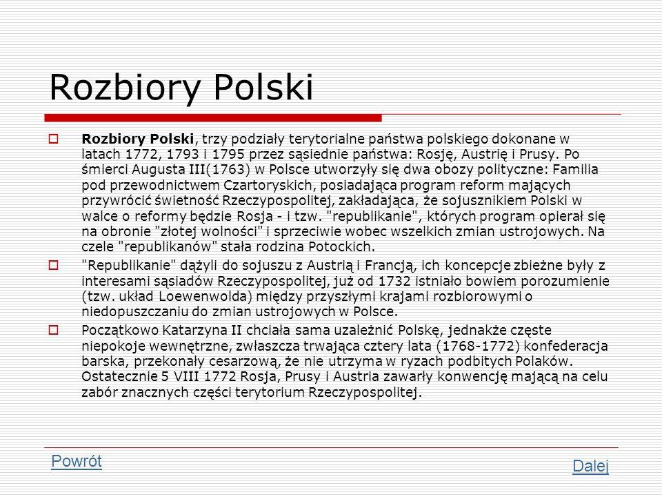 Rozbiory Polski Powrót Dalej