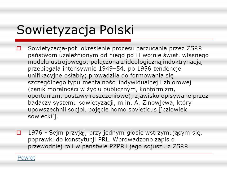Sowietyzacja Polski