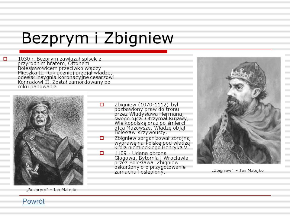 Bezprym i Zbigniew Powrót