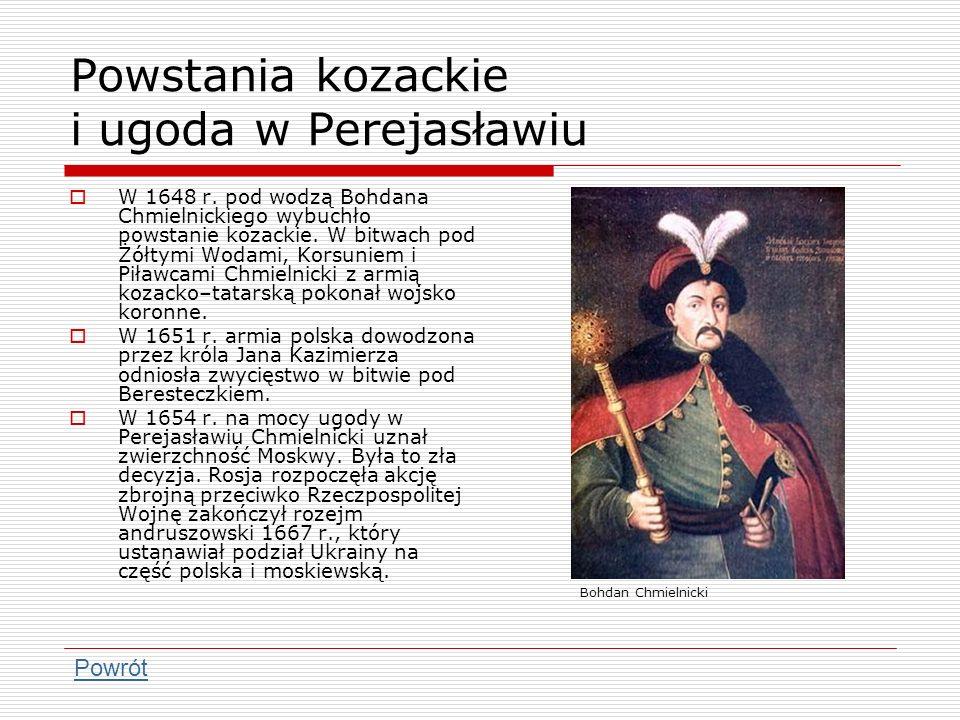 Powstania kozackie i ugoda w Perejasławiu