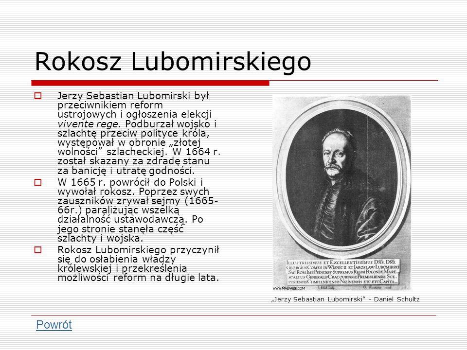 Rokosz Lubomirskiego Powrót