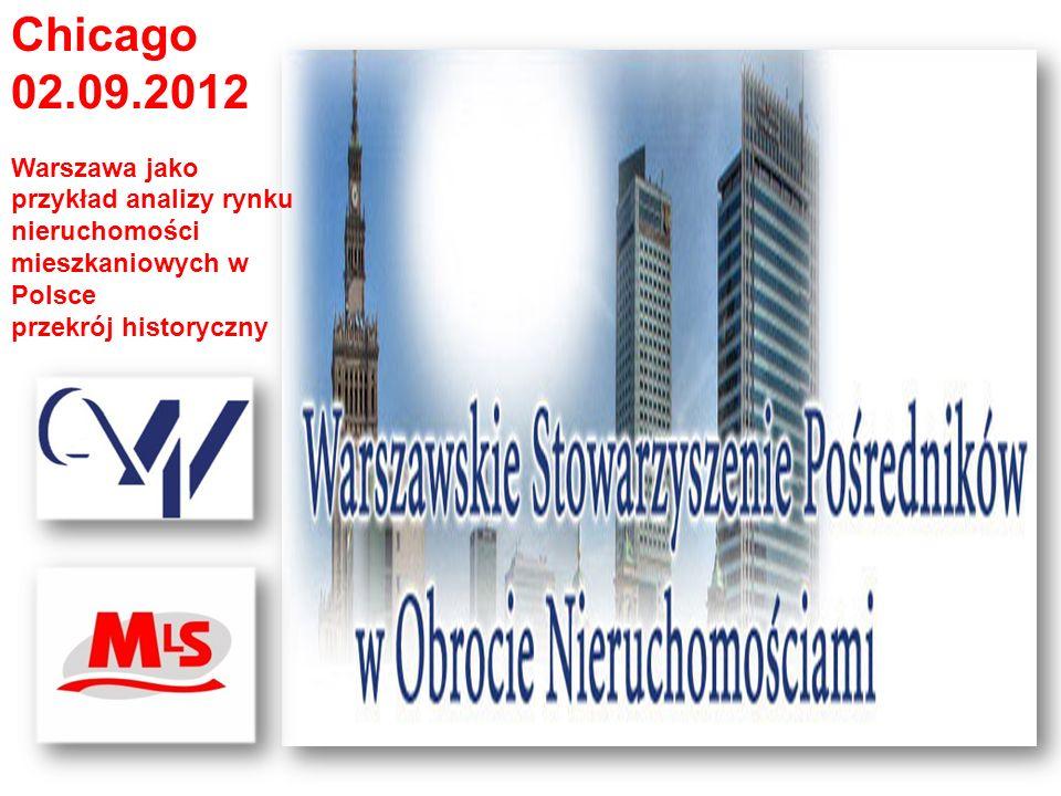 Chicago 02.09.2012. Warszawa jako przykład analizy rynku nieruchomości mieszkaniowych w Polsce. przekrój historyczny.