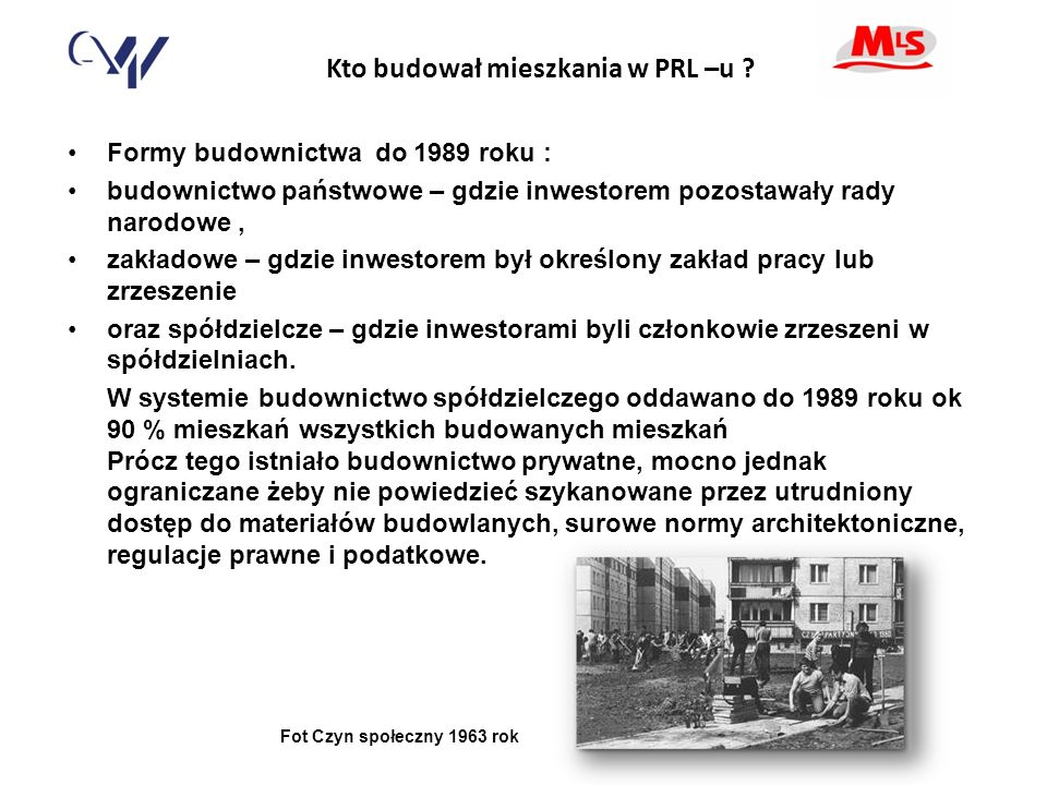 Kto budował mieszkania w PRL –u