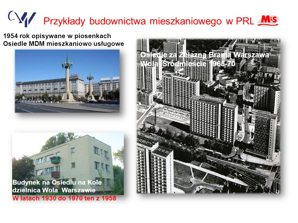 Przykłady budownictwa mieszkaniowego w PRL