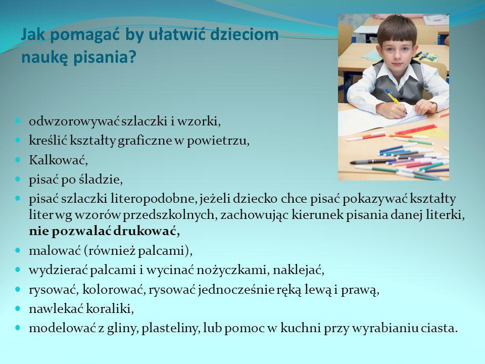 Jak pomagać by ułatwić dzieciom naukę pisania