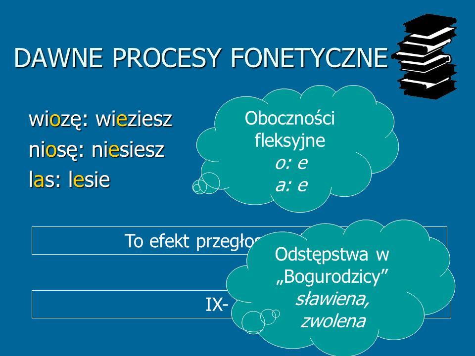 DAWNE PROCESY FONETYCZNE