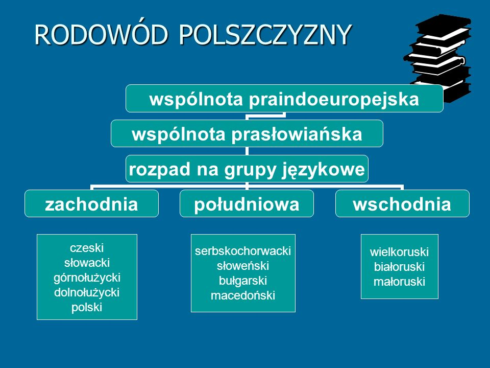 RODOWÓD POLSZCZYZNY czeski serbskochorwacki wielkoruski słowacki