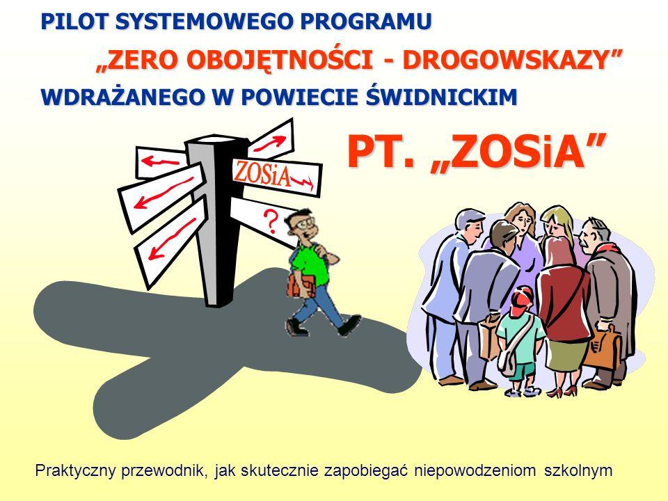 """PT. """"ZOSiA """"ZERO OBOJĘTNOŚCI - DROGOWSKAZY"""