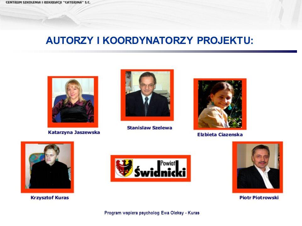 Program wspiera psycholog Ewa Oleksy - Kuras