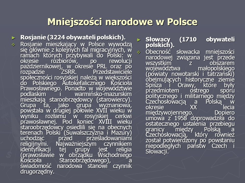 Mniejszości narodowe w Polsce