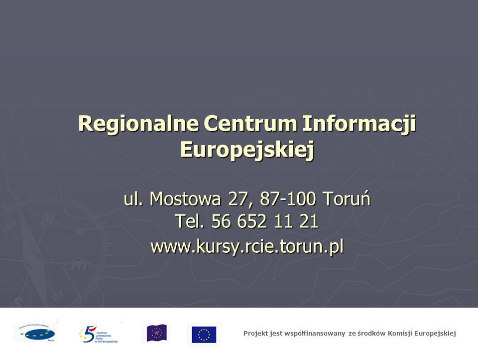 Projekt jest współfinansowany ze środków Komisji Europejskiej