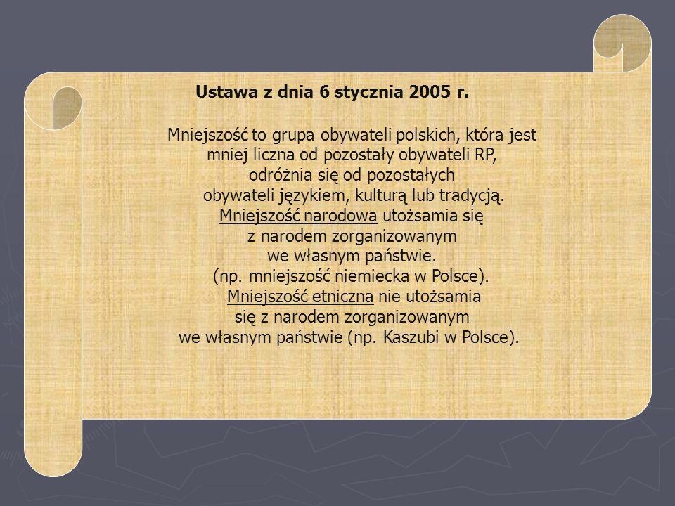 Mniejszość to grupa obywateli polskich, która jest