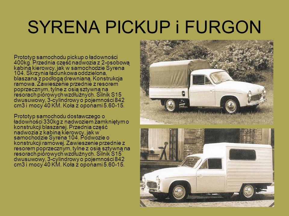 SYRENA PICKUP i FURGON