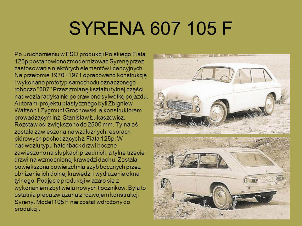 SYRENA 607 105 F
