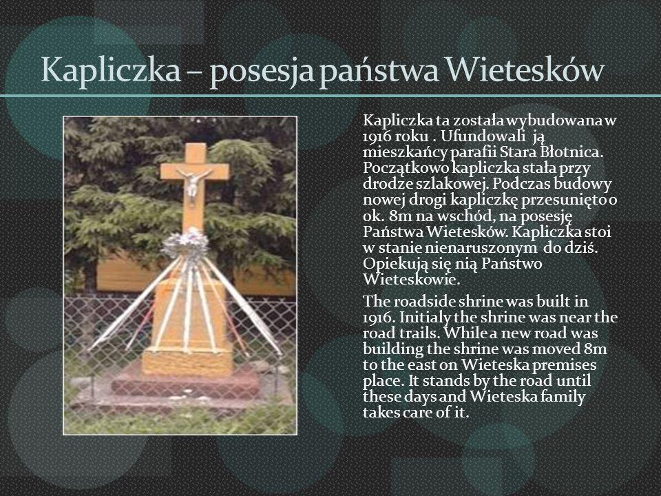 Kapliczka – posesja państwa Wietesków