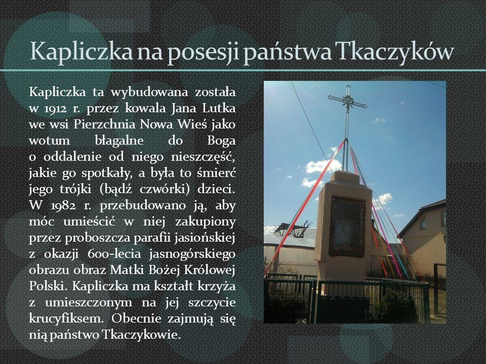 Kapliczka na posesji państwa Tkaczyków