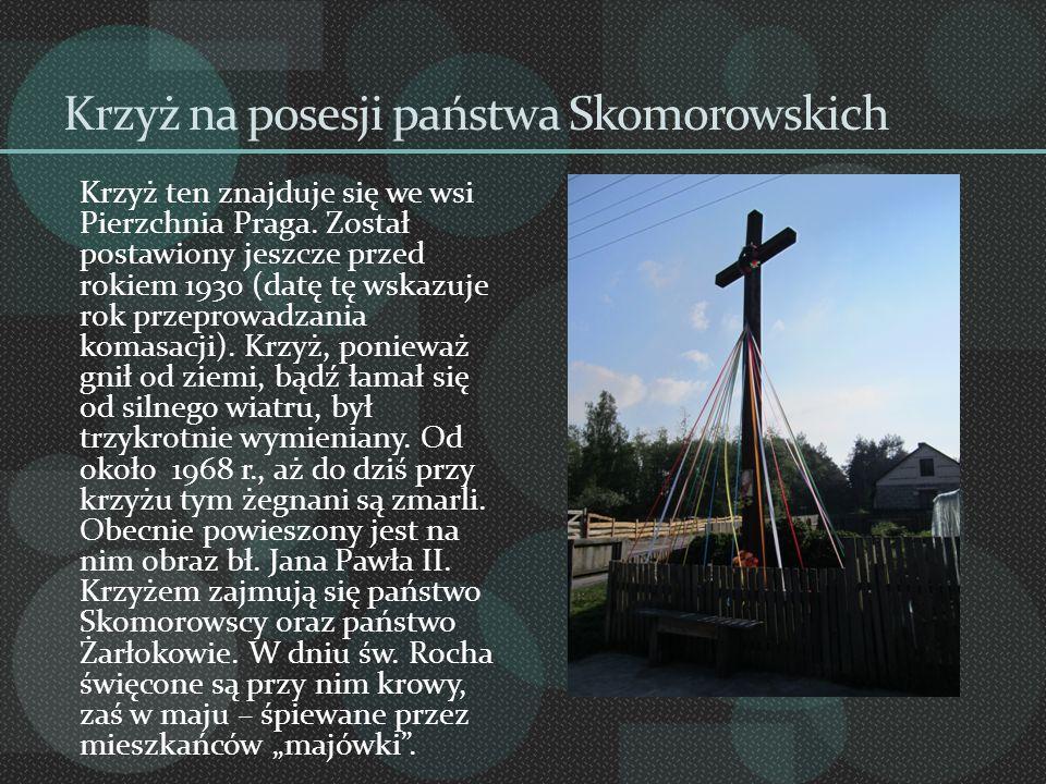 Krzyż na posesji państwa Skomorowskich