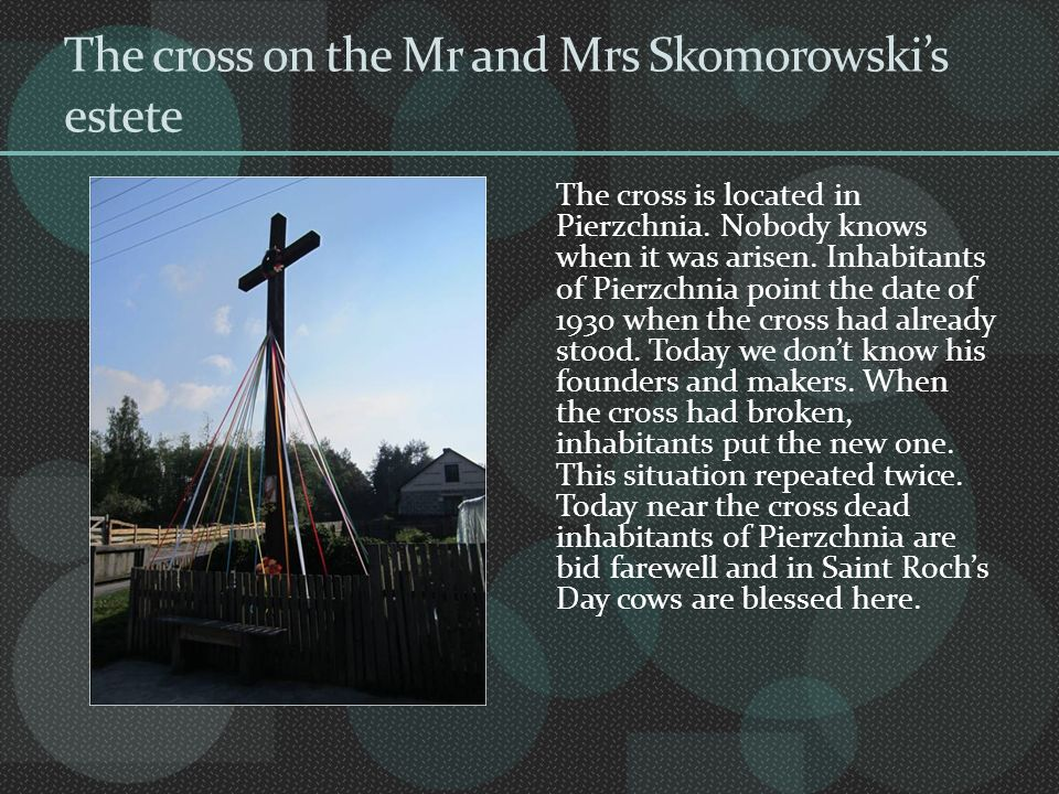 The cross on the Mr and Mrs Skomorowski's estete