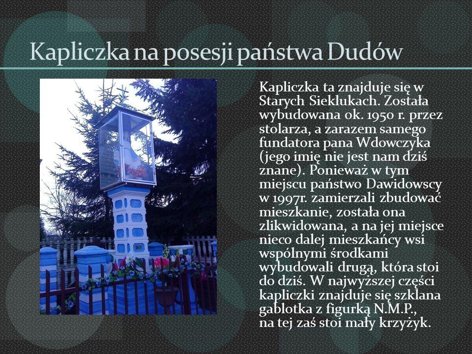 Kapliczka na posesji państwa Dudów