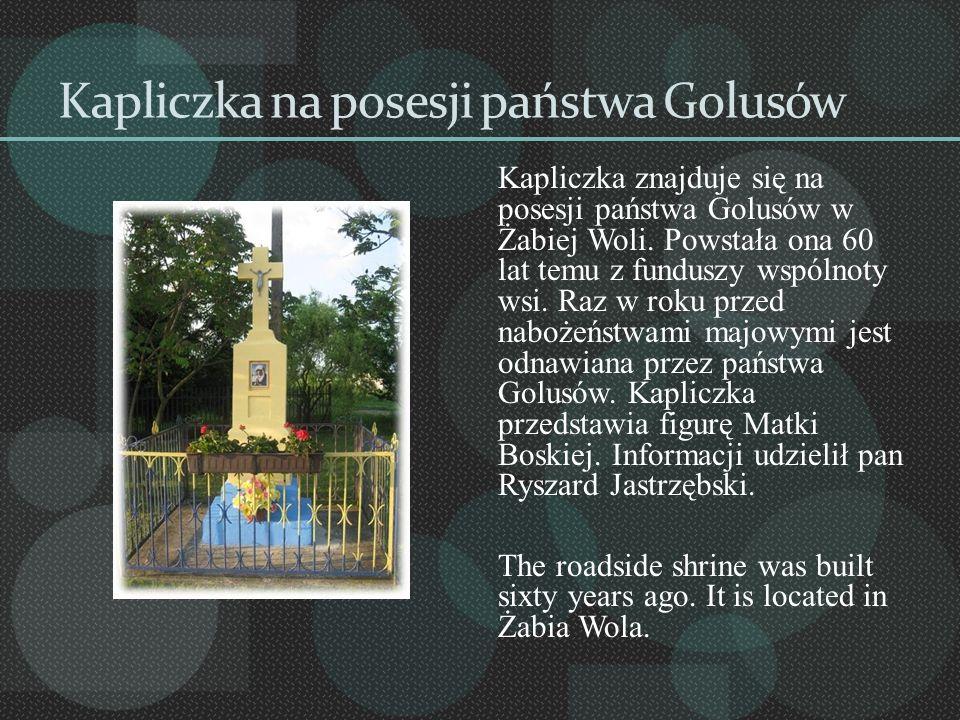 Kapliczka na posesji państwa Golusów