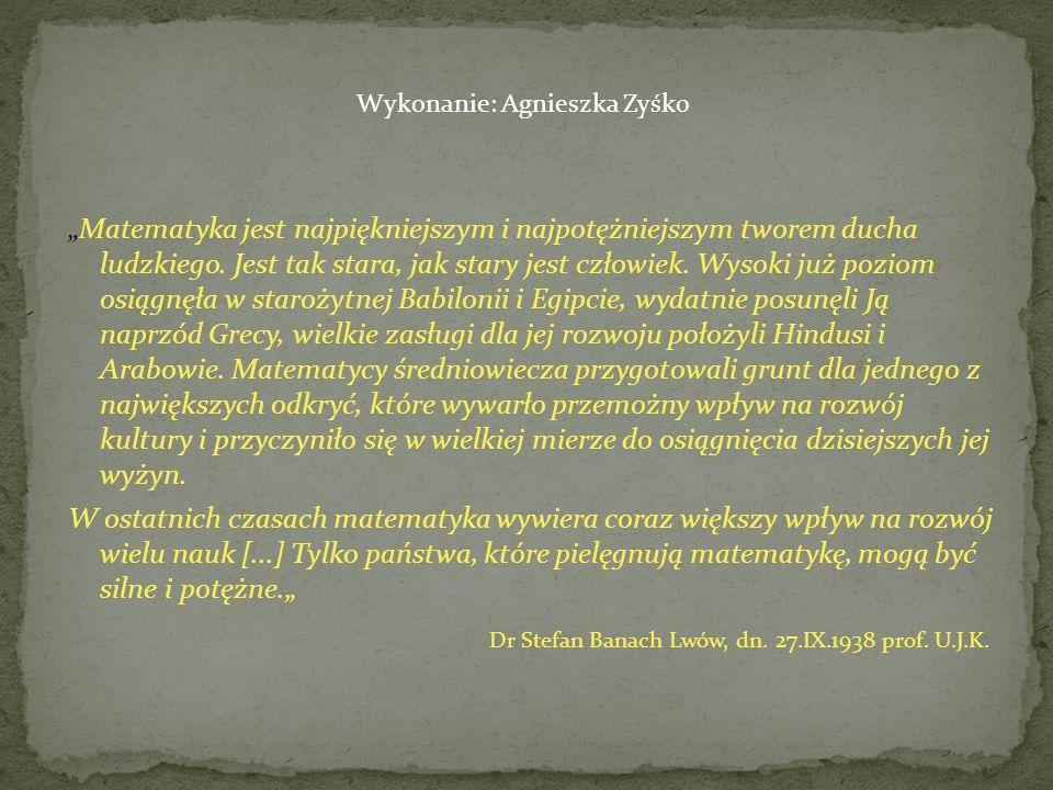Dr Stefan Banach Lwów, dn. 27.IX.1938 prof. U.J.K.