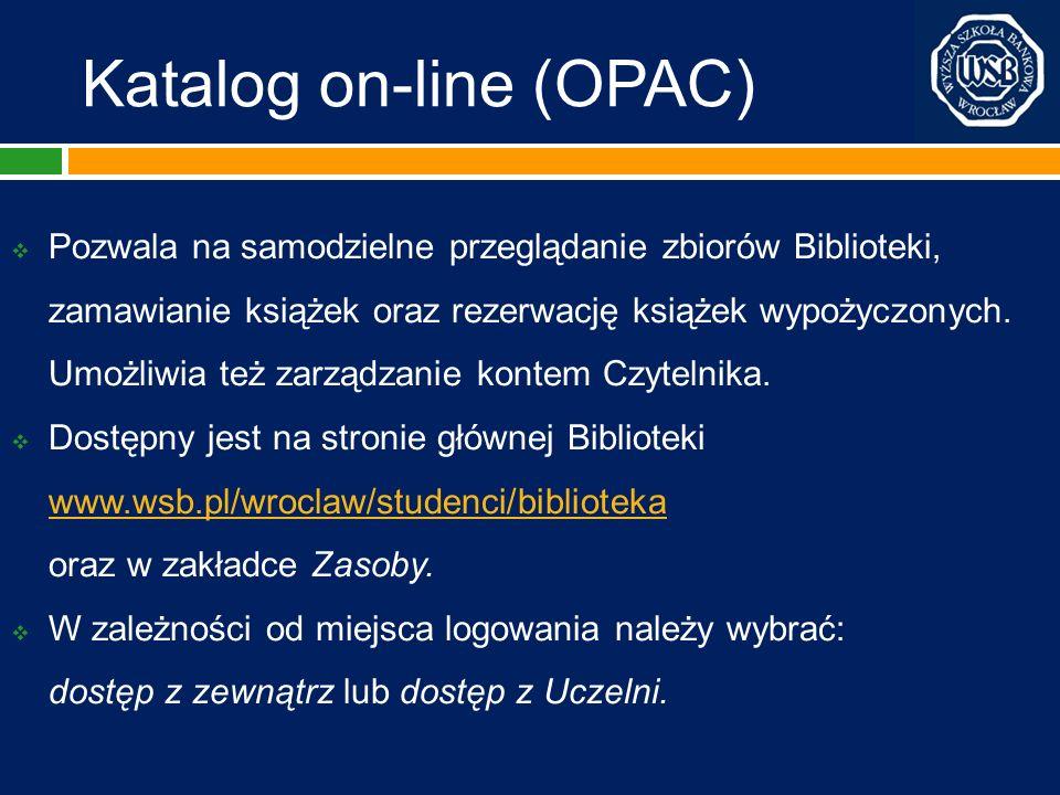 Katalog on-line (OPAC)