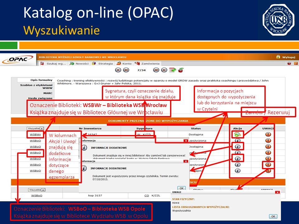 Katalog on-line (OPAC) Wyszukiwanie