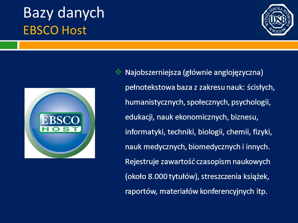 Bazy danych EBSCO Host