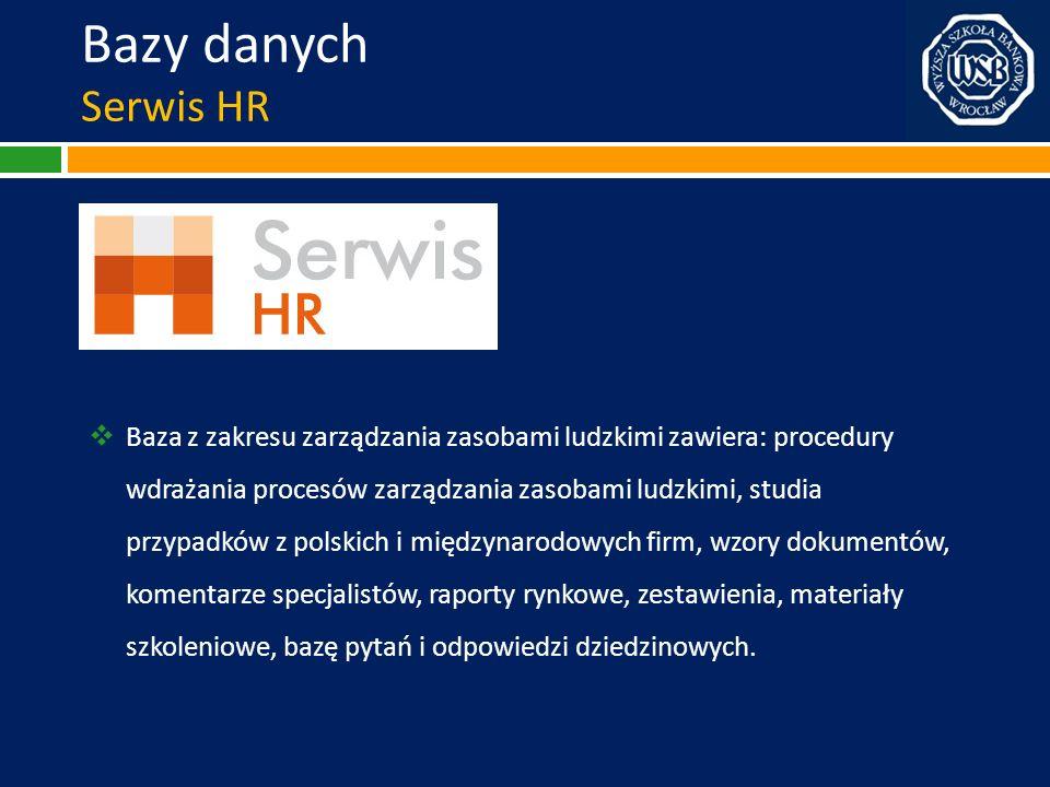 Bazy danych Serwis HR