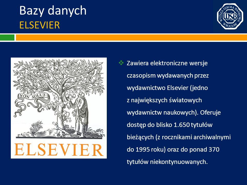 Bazy danych ELSEVIER
