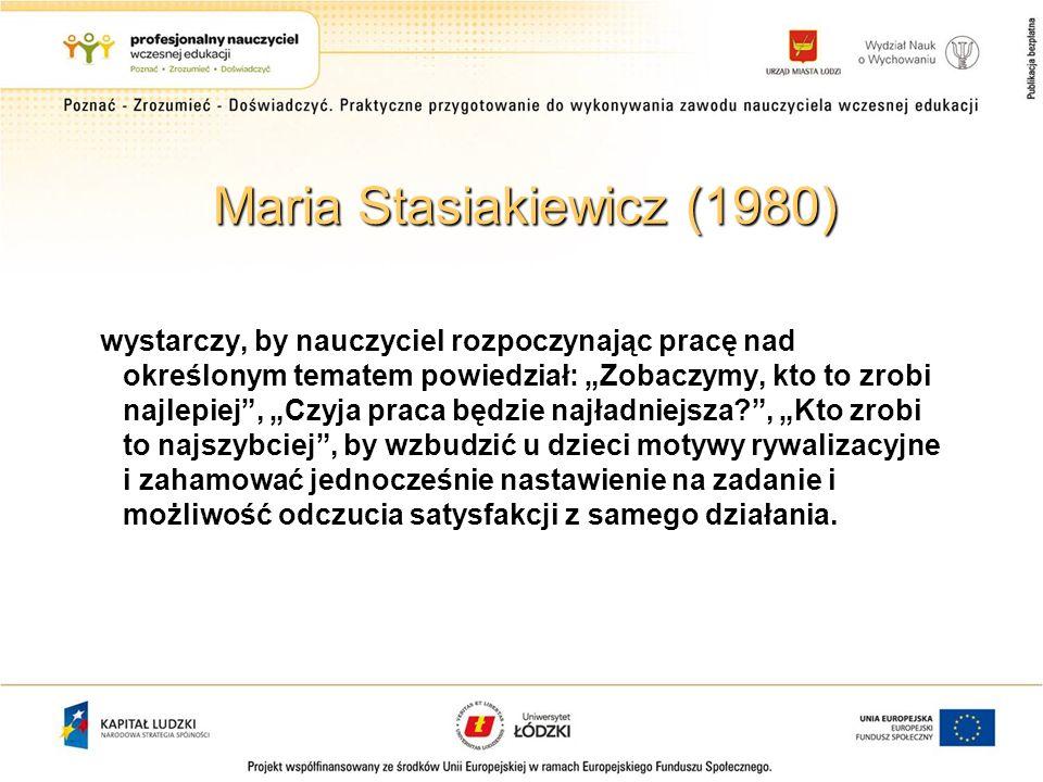 Maria Stasiakiewicz (1980)