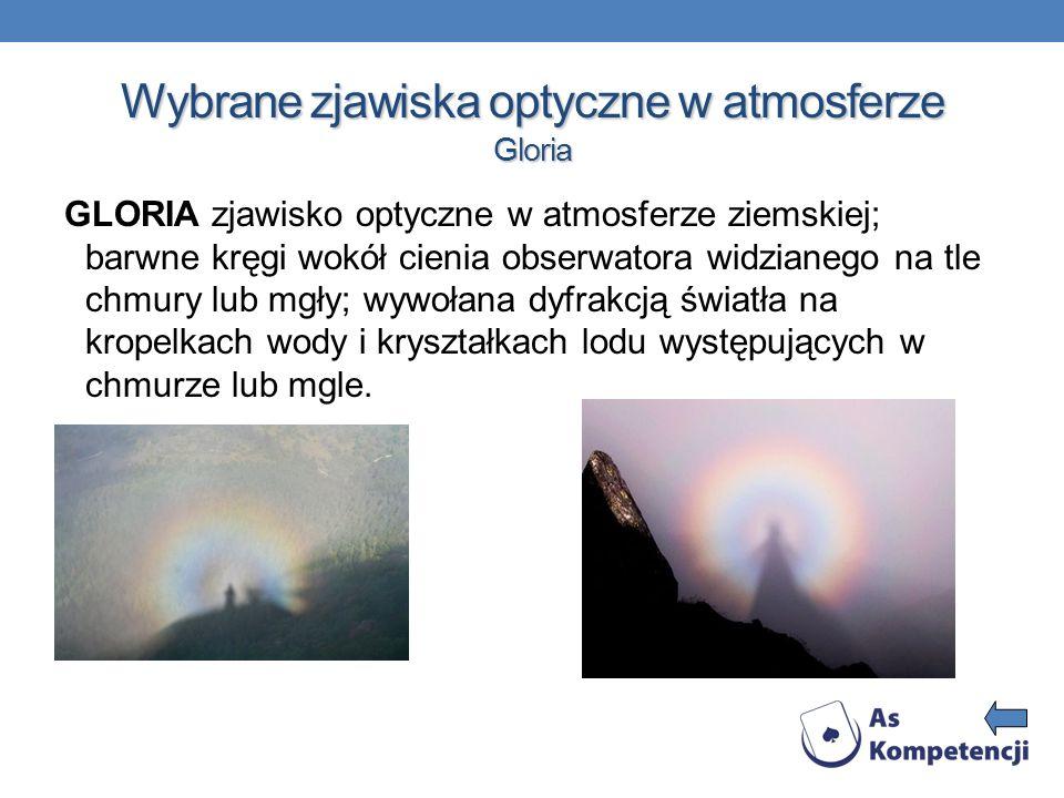 Wybrane zjawiska optyczne w atmosferze Gloria