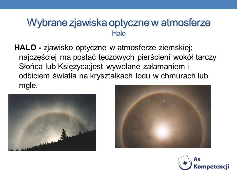 Wybrane zjawiska optyczne w atmosferze Halo