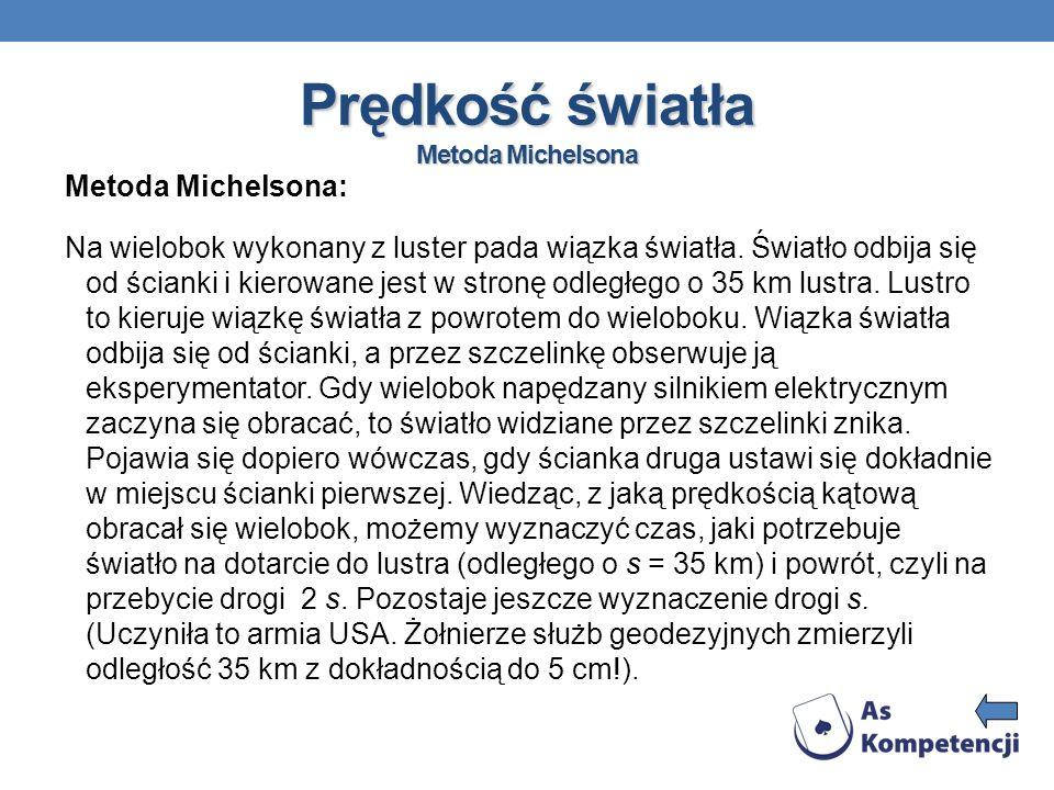 Prędkość światła Metoda Michelsona