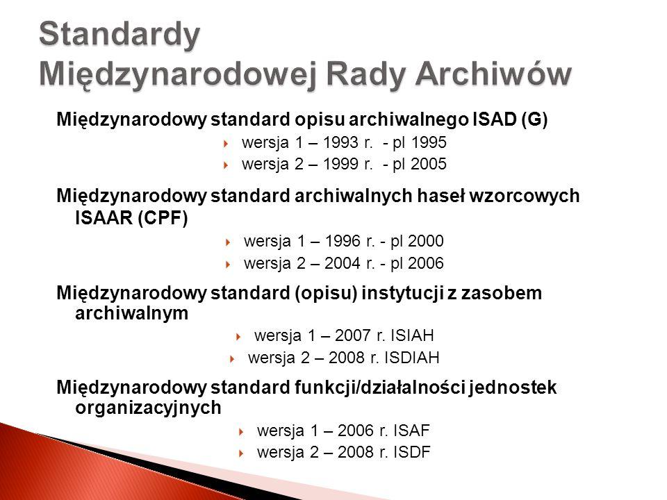 Standardy Międzynarodowej Rady Archiwów