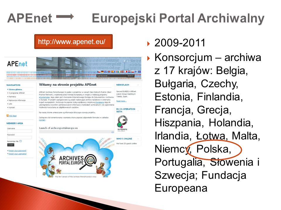 APEnet Europejski Portal Archiwalny