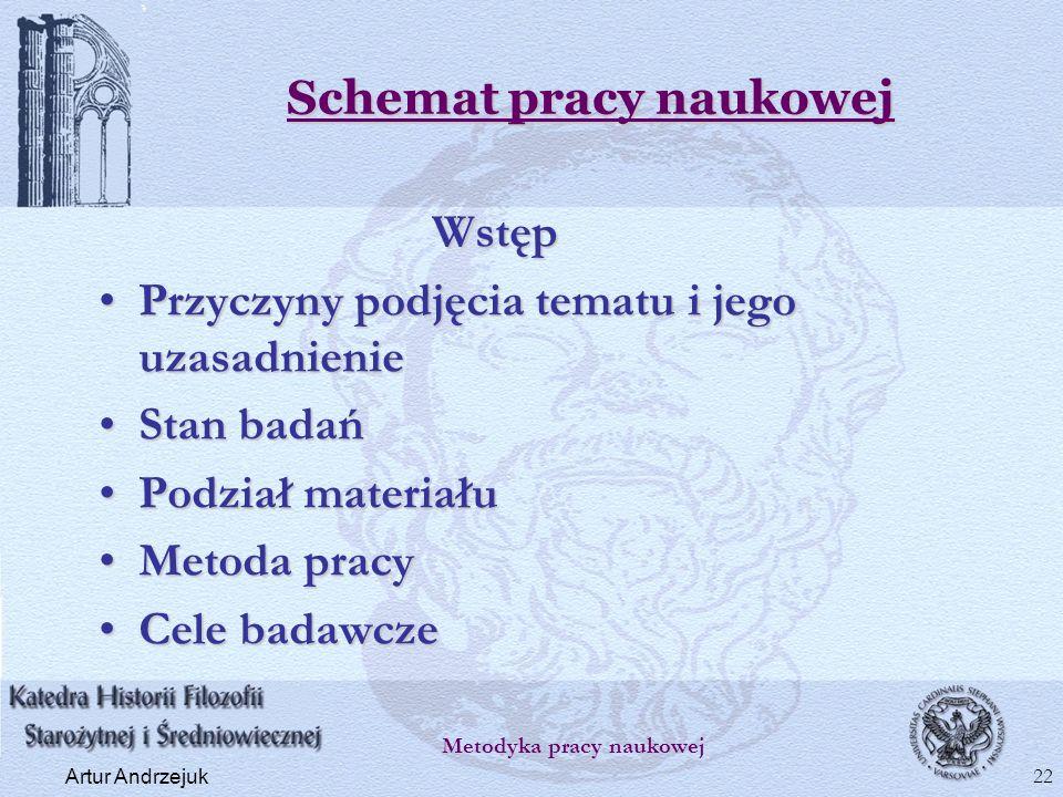 Schemat pracy naukowej
