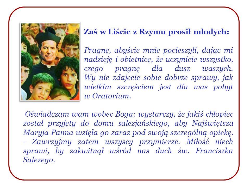 Zaś w Liście z Rzymu prosił młodych: