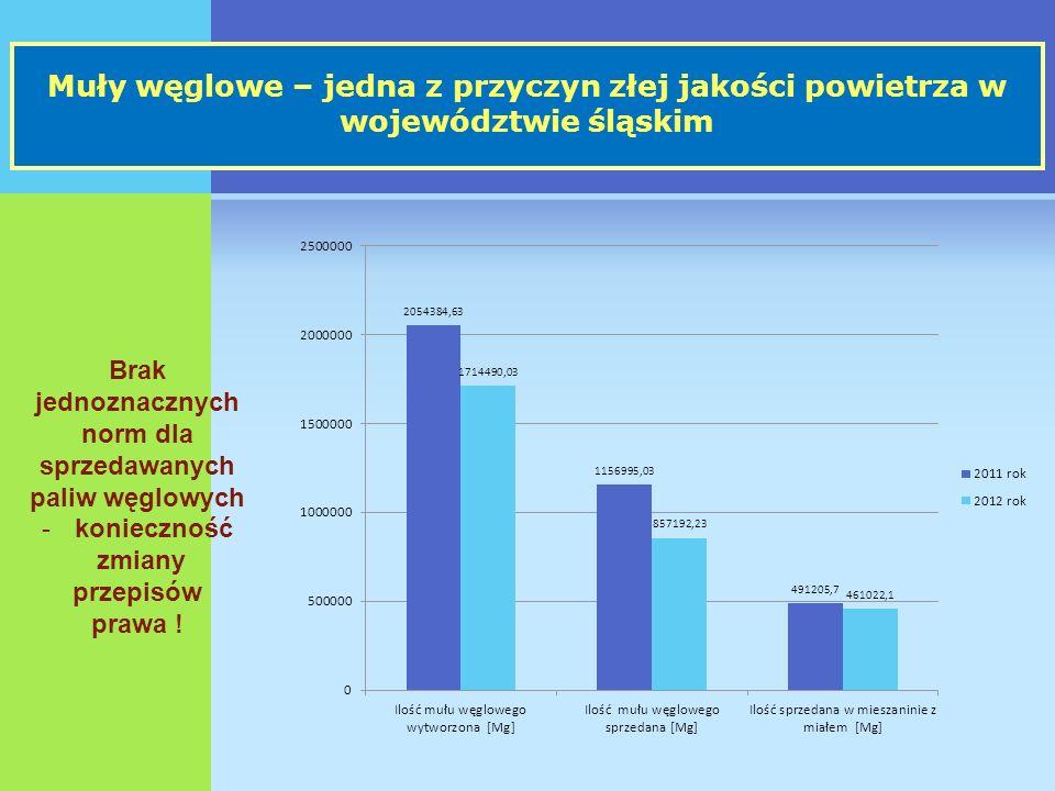 Muły węglowe – jedna z przyczyn złej jakości powietrza w województwie śląskim