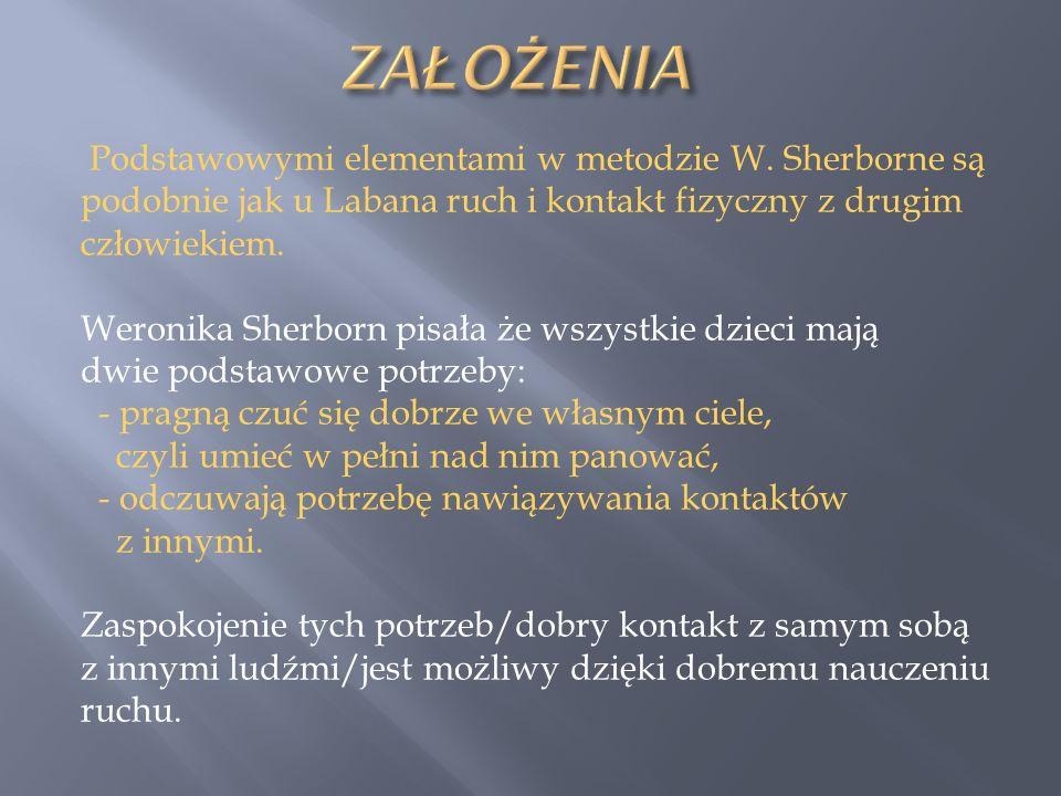 ZAŁOŻENIA Podstawowymi elementami w metodzie W. Sherborne są