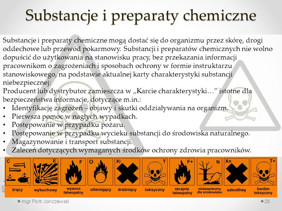 Substancje i preparaty chemiczne