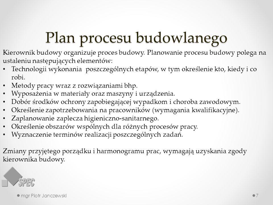 Plan procesu budowlanego