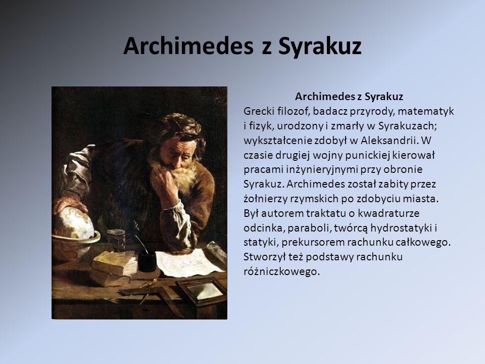 Archimedes z Syrakuz Archimedes z Syrakuz