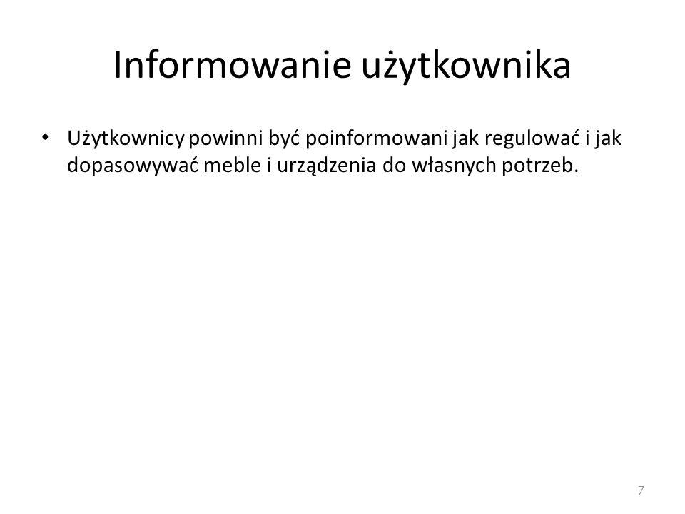 Informowanie użytkownika