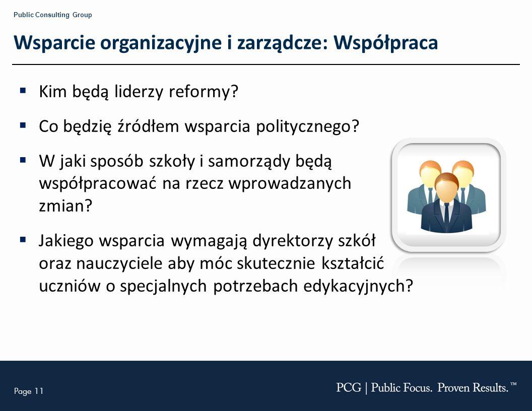 Wsparcie organizacyjne i zarządcze: Współpraca