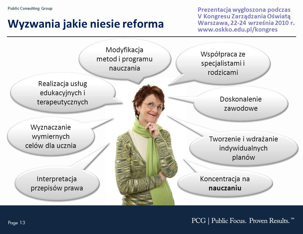Wyzwania jakie niesie reforma