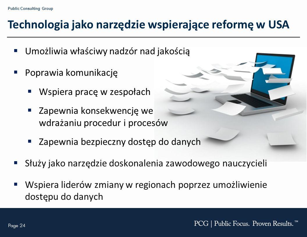 Technologia jako narzędzie wspierające reformę w USA